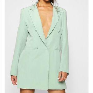 Mint green Blazer Dress